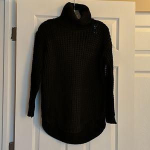 RVCA Black Chunky Turtleneck Sweater XS